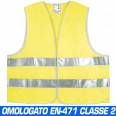 Vest jacket gilet Fluorescent Signal high visibility reflective Yellow one size