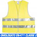 Weste Jacke Gilet Fluoreszenzsignal hohe Sichtbarkeit reflektierend gelb Einheitsgröße