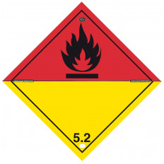 "Self-adhesive label or aluminum support ADR division 4.2 for Vehicles ""Subject to spontaneous ignition"" 300x300mm"