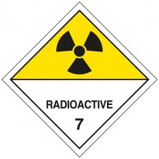 Самоклеящаяся этикетка или алюминиевая подставка ADR для 7.A для «Радиоактивных материалов категории II» 300x300 мм