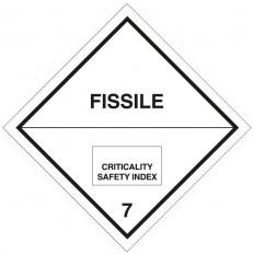 """Etiqueta autoadesiva ou suporte de alumínio ADR para a divisão 7.A para """"Categoria de Materiais Radioativos II"""" 300x300mm"""