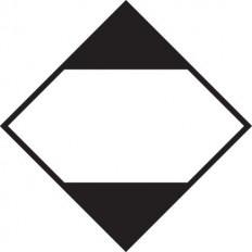 """Étiquette autocollante ou support en aluminium ADR pour 7.A division pour """"Matières radioactives catégorie II"""" 300x300mm"""