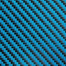 Гибридная ткань из настоящего углеродного волокна и арамида 190 г / м² 3k TWILL красная