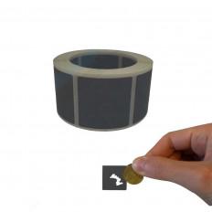 Bollini Scratch off modello gratta e vinci adesivi forma quadrata