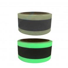 Люминесцентная швейная лента с отражающей лентой в центре 50 мм