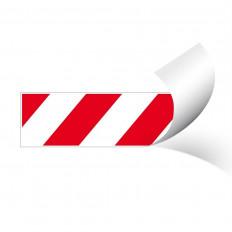 Película refletiva autocolante de advertência zebrada vermelha