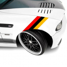 Bonnet/Bumper German flag PVC Stickers for BMW Series E39 E46