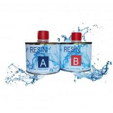 Resina epoxídica transparente bi componente a efeito agua –