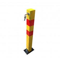 Barra dissuasore quadrata anti parcheggio sosta auto pieghevole con lucchetto