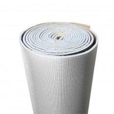 Bande pare-chaleur protection ignifuge or / argent fibre de verre 50mm x 5M