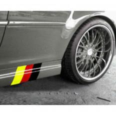 BMW German flag stickers for BMW Series E39 E46 E90 X3 X5 X6 1