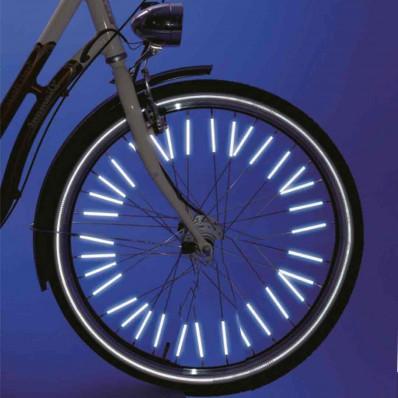 Autocollant réfléchissant corps roue bicyclette d/'équipement sécurité lumineux