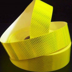 High intensity fluorescent yellow lime reflective adhesive tape