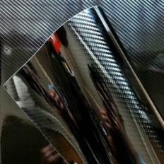 Lámina en vinilo efecto fibra de carbón 5D brillosa de alta