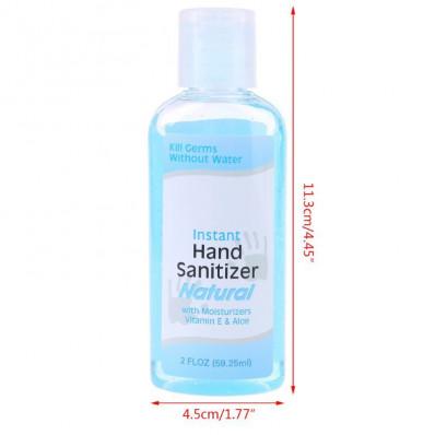Igenizzante mani da 60ml antibatterico senza acqua con Vitamina E & Aloe
