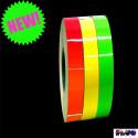 Bicicleta listras procurando 3M ™ faixa adesiva para roda vermelha de amarela ou verde fluorescente