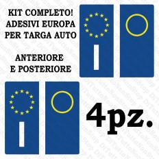 Carro de adesivos de matrícula Europa 4 peças kit vinil ultra resistente e aprovado