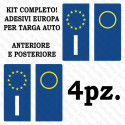 License plate stickers car Europe 4-piece kit ultra-resistant vinyl and approved