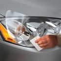 Película autocolante transparente para aplicar em farol de carro