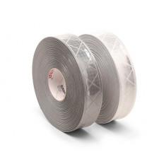 Fita de costura refletiva micro prismática cinza prateada