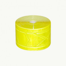 Ruban à coudre micro prismatique jaune réfléchissant à haute