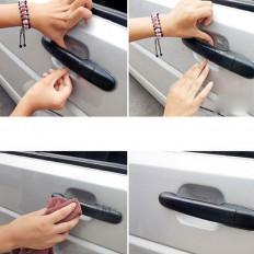 Película protetora transparente para o portire lida com auto anti arranhão 4 PCs.