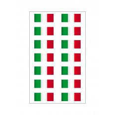 14 Adesivi bandiera Italiana in vinile ultra resistente per moto vespa auto casco 16x10cm