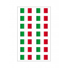 14 Sticker italienische Flagge Ultra resistenten Vinyl für Moto Vespa Helm Auto 16x10cm