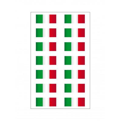 14 Aufkleber Italienische Flagge Vinyl Ultra Haltbares Motorrad Vespa Auto