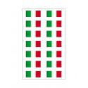 14 adesivos Bandeira italiana de vinil ultra-duráveis carro motocicleta vespa