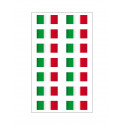 14 Sticker italienische Fahne Ultra resistenten Vinyl für Moto Vespa Auto Fiat 500 16x10cm Helm