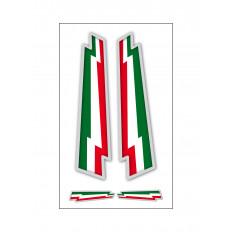 4 наклейки итальянского флага ракета ультра стойкого винил