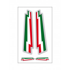 4 Stickers Italian flag ultra resistant vinyl arrows for moto vespa car fiat 500 16x10cm helmet