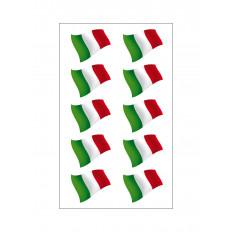10 Autocolantes em vinil da Bandeira tricolor italiana para