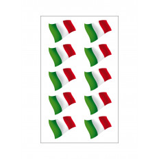 10 Stickers Italian flag ultra resistant vinyl for moto vespa car fiat 500 16x10cm helmet