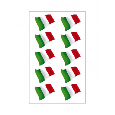 4 pegatinas bandera italiana vinilo ultra resistente a las flechas para casco de 16x10cm de moto vespa coche fiat 500
