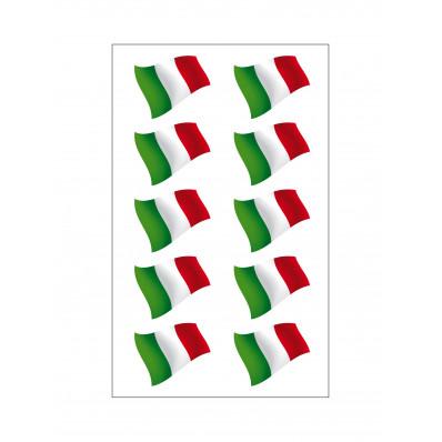 4 flèches de vinyle ultra résistant drapeau italien autocollants pour casque de 16x10cm moto vespa voiture fiat 500