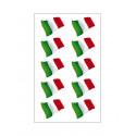 10 Stickers Italian flag ultra resistant vinyl for moto vespa car fiat 500 16x10cm helmet