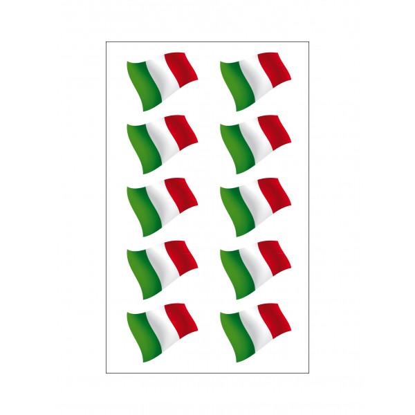 N 176 10 Italian Flag Vinyl Stickers For Car And Motorbike