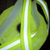 Nastro riflettente rifrangente da cucire combinato giallo/grigio 30mm x 2MT