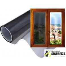 Pellicola oscurante antigraffio per finestre casa o camper nera al 20% misura 75cm x 300cm
