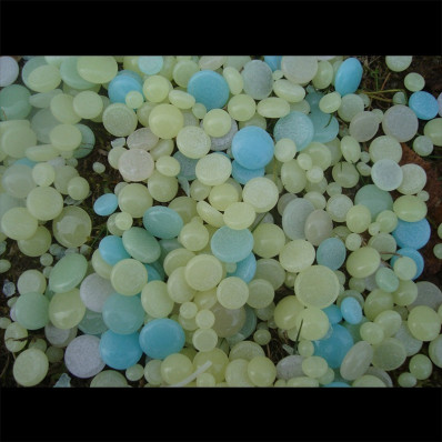 Vidrio fosforescente fluorescente botones esa luz en la oscuridad para decorazone