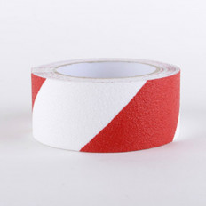 Ruban adhésif antidérapant rouge et blanc pour escaliers et