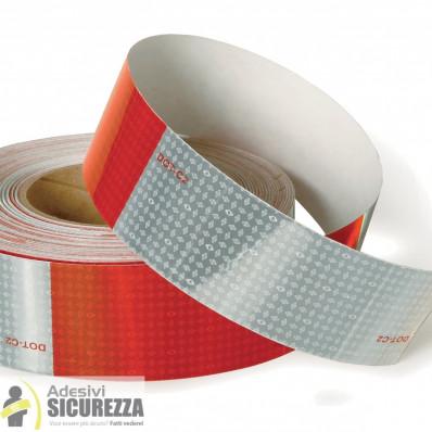 Retroriflettente cinta reflectiva alerta rojo/blanco 50 mm 2 clase