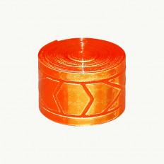 Ruban à coudre micro prismatique orange réfléchissant à haute