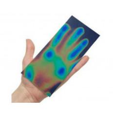 Клейкий лист Термохромный жидкие кристаллы, которые меняют цвет