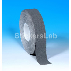Non-slip adhesive films tape stripes gray silver 25 mm x 6 M or 18 Mt