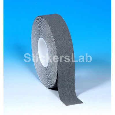 Láminas adhesivas antideslizantes cinta rayas gris plata 25 mm x 6 M o 18 Mt