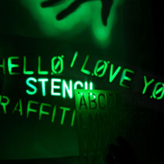 Phosphorescent Spray paint glows in the dark in 4 colours
