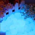 Sassi luminosi di resina fotoluminescente colore Blu Sky per arredo 50/100 pezzi